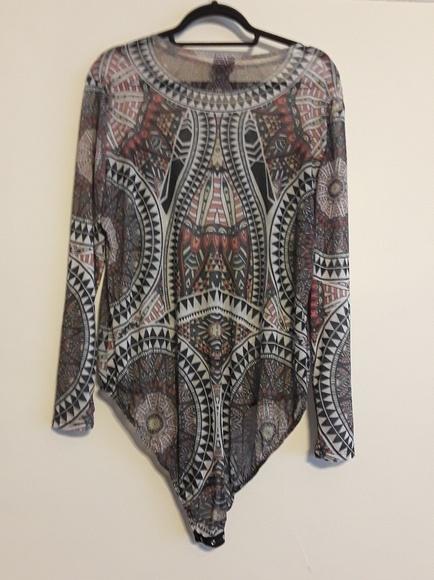 Rue21 Tops Tribal Print Plus Size Bodysuit Poshmark
